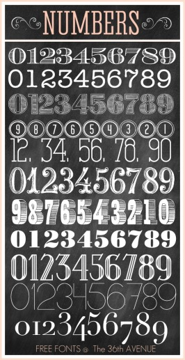 numbers-fonts